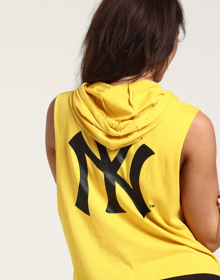 new product d0ce5 9a8d5 Majestic Athletic Women's New York Yankees Leana Hooded Muscle Gold