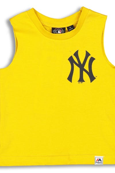 Majestic Athletic Infant New York Yankees Remic Muscle Tee Gold