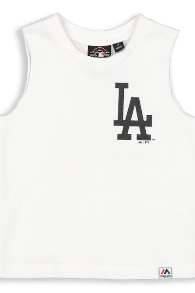 Majestic Athletic Infant Los Angeles Dodgers Remic Muscle Tee White