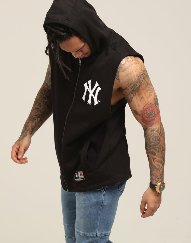 finest selection 71ead 57c43 Majestic Athletic New York Yankees Parc Sleeveless Hood Black