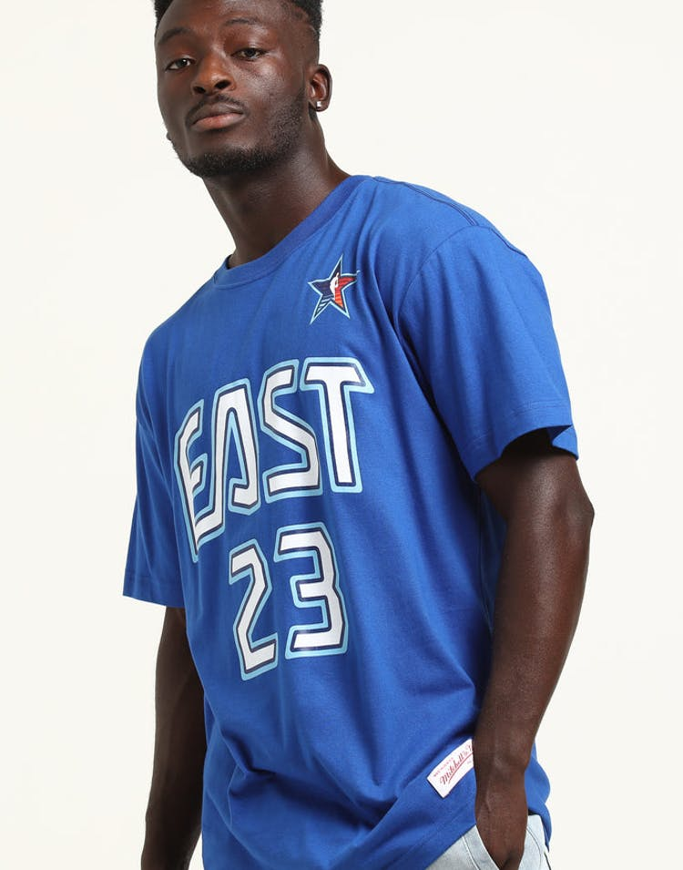 0f565051d Mitchell   Ness Lebron James  23  09 East All-Stars Tee Royal – Culture  Kings