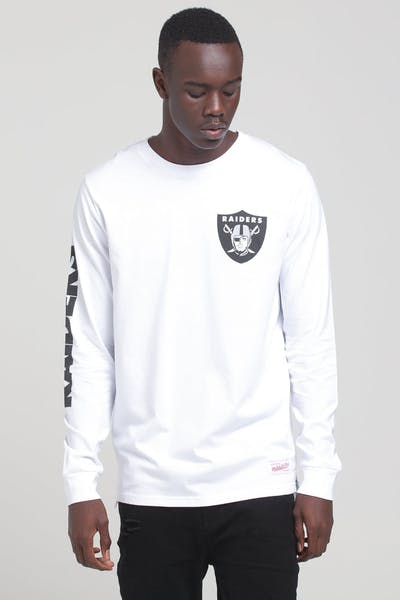 Mitchell & Ness Raiders Wordmark LS Tee White