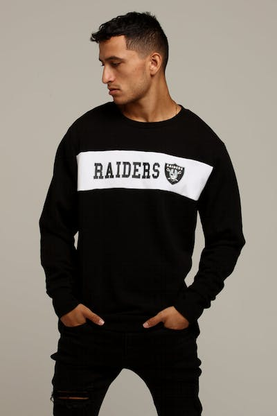 Majestic Athletic Raiders Todd Sweat Black