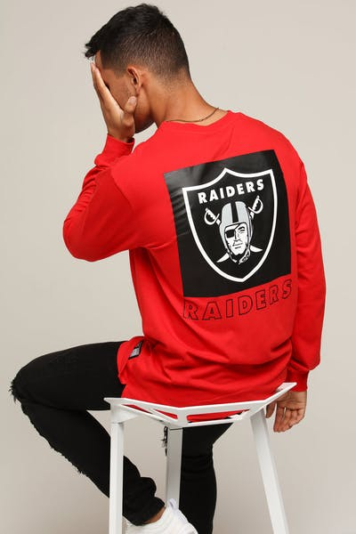 Majestic Athletic Raiders Coldspring LS Tee Red