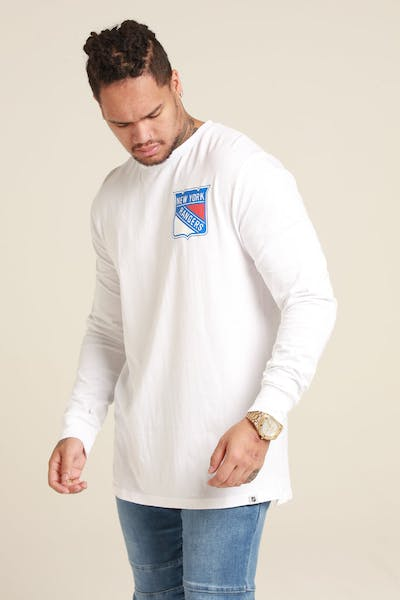 Majestic Athletic New York Rangers NHL C Crest L/S Tee White