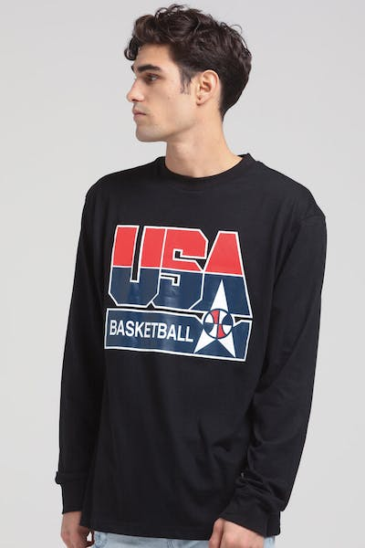 size 40 52fec 1a406 Mitchell   Ness USA  92 Dream Team BBall LS Tee ...
