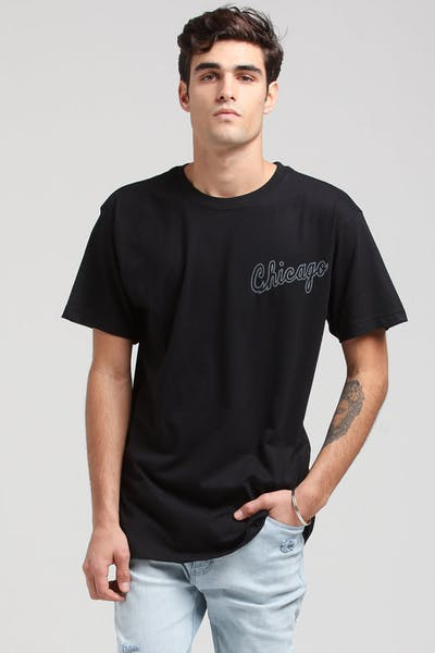Mitchell & Ness Chicago Bulls Tonal Wordmark SS Tee Black