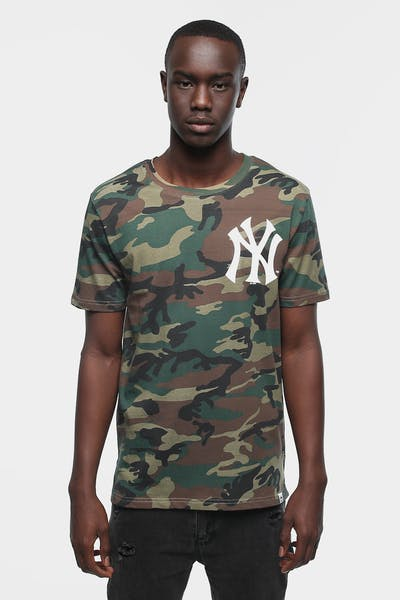 MAJESTIC ATHLETIC CAMO YANKEES BICESTER TEE WOODLAND CAMO