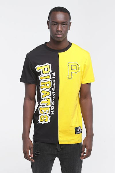 Majestic Athletic Pittsburgh Pirates Split Tee Black/Yellow