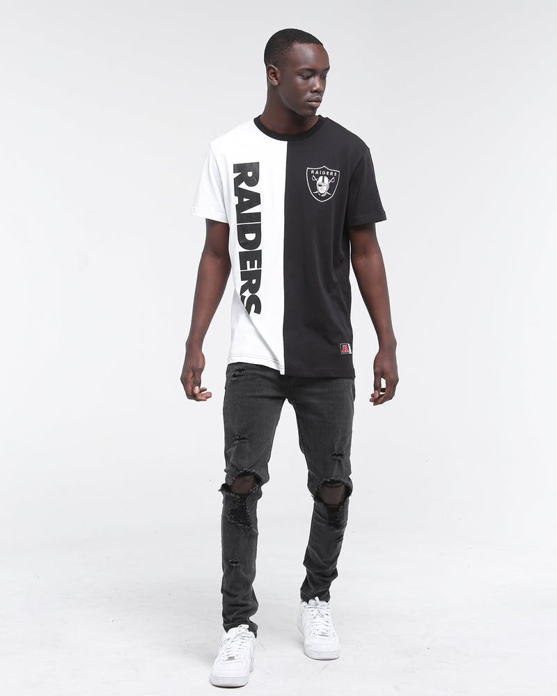 Majestic Athletic Raiders Split Tee White/Black
