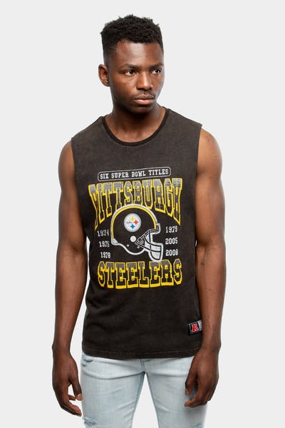 Majestic Athletic Pittsburgh Steelers Whiteman Muscle Black