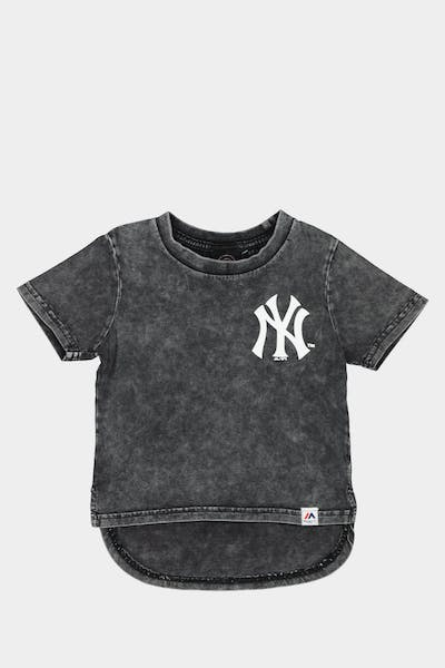 MAJESTIC ATHLETIC TODDLER NEW YORK YANKEES BICESTER TEE WASHED BLACK
