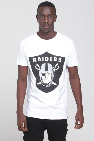 Majestic Athletic Raiders Oversized Logo Tee White