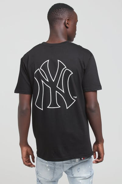 Majestic Athletic New York Yankees Outline SS Tee Black/White