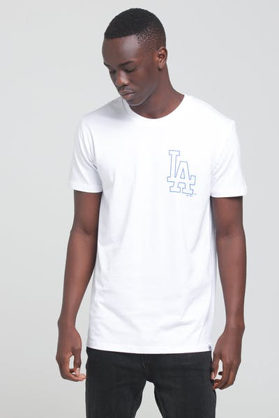 Majestic Athletic Los Angeles Dodgers Outline SS Tee White/Royal