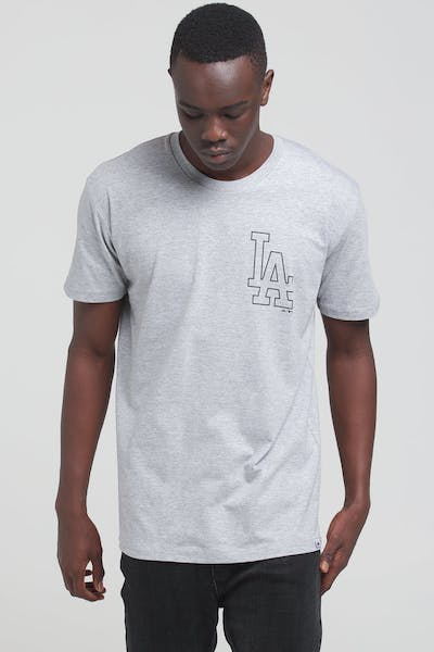Majestic Athletic Los Angeles Dodgers Outline SS Tee Grey/Black