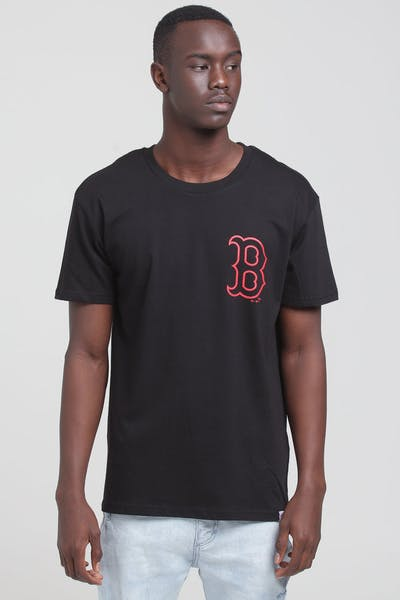 Majestic Athletic Boston Red Sox Outline SS Tee Black/Red