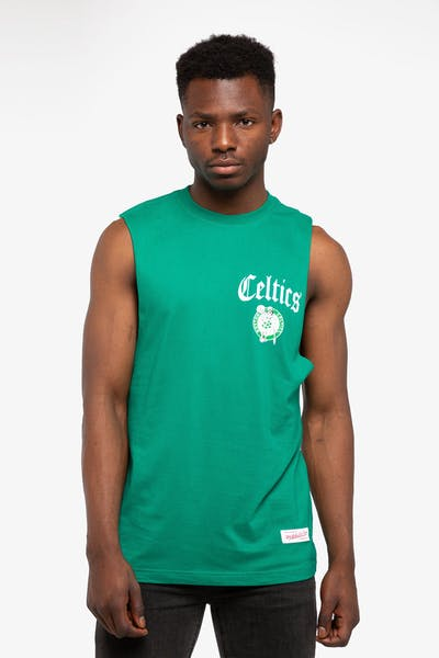 Mitchell & Ness Boston Celtics Old English Muscle Green