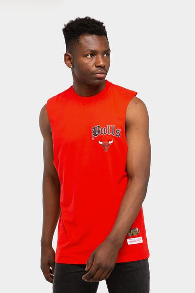 Mitchell & Ness Chicago Bulls Old English Muscle Red