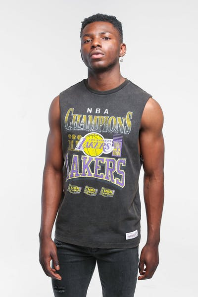 Mitchell & Ness Los Angeles Lakers Vintage Champ Muscle Black