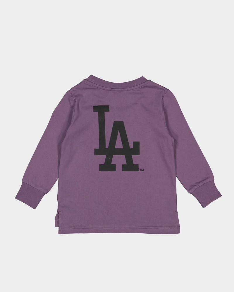 Majestic Athletic Toddlers Los Angeles Dodgers Levare LS Tee Purple