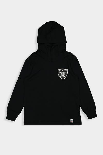 Majestic Athletic Toddler Raiders Upper Hooded LS Tee Black