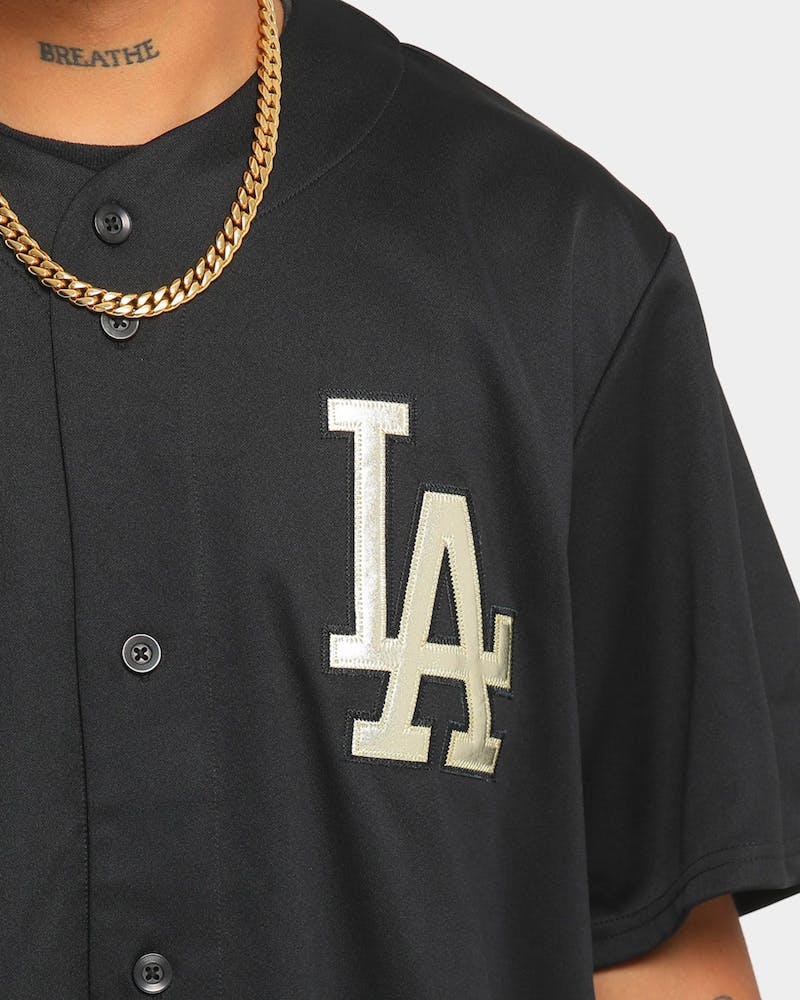 Majestic Athletic Los Angeles Dodgers Gold Replica Jersey Black
