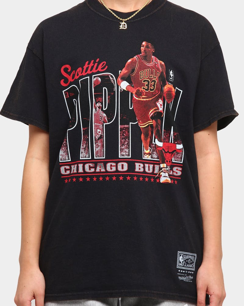 Mitchell & Ness Chicago Bulls Pippen Photo Real Vintage Short Sleeve T-Shirt Vintage Black