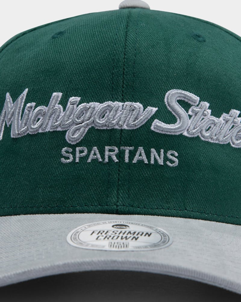 NATIONAL COLLEGIATE ATHLETIC ASSC Michigan State Spartans Freshman Crown Snapback Green