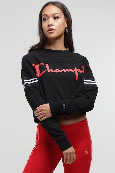 Champion Women's JERSEY EXAGGERATED SLEEVE TEE Black