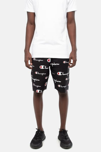Champion Reverse Weave Cut Off Short All Over Print Black/Script