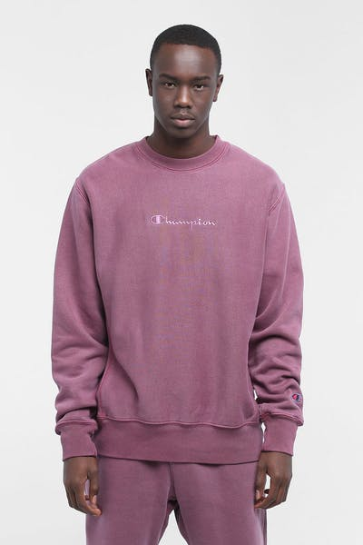Champion Dyed Washed Crew Jogger Burgundy