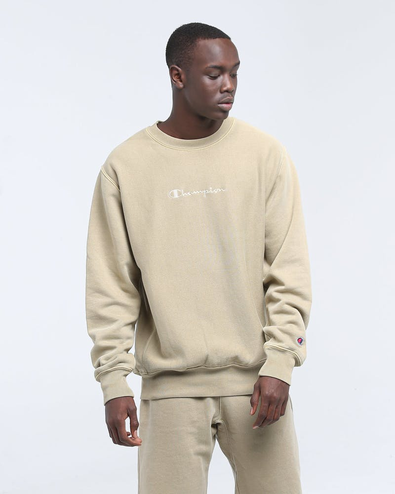 Champion Dyed Washed Crew American Khaki