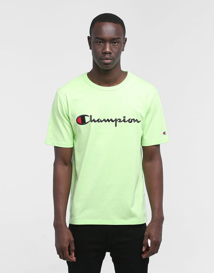 Champion Heritage Script Tee Lime/Black