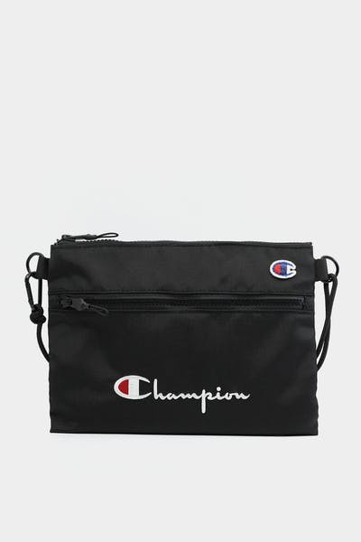 CHAMPION SCRIPT SHOULDER BAG BLACK