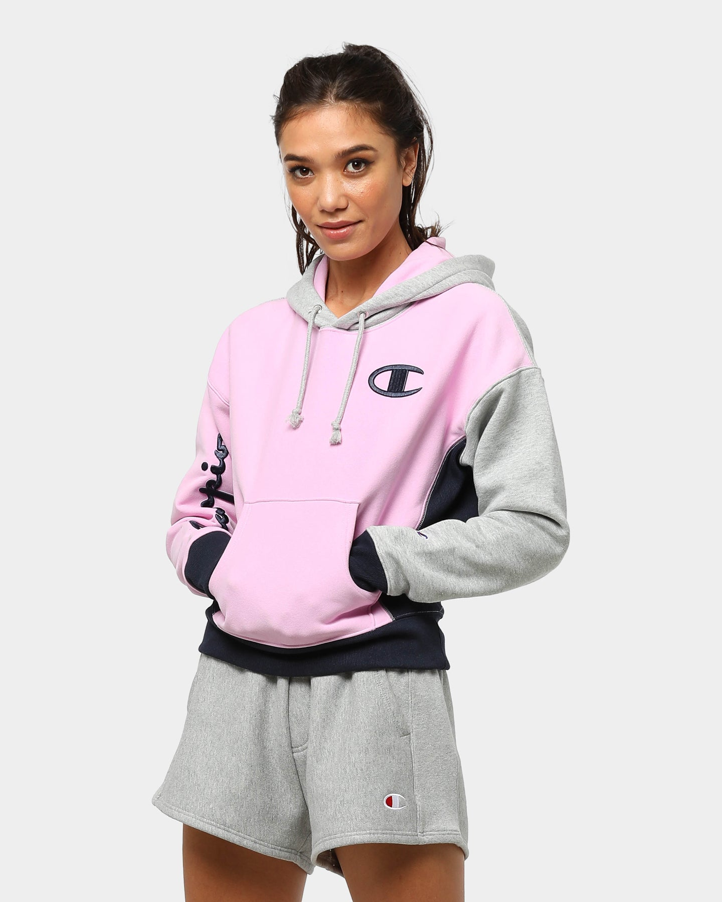 Women's Nike Heathered Gray Cleveland Browns Historic Cropped Pullover Hoodie