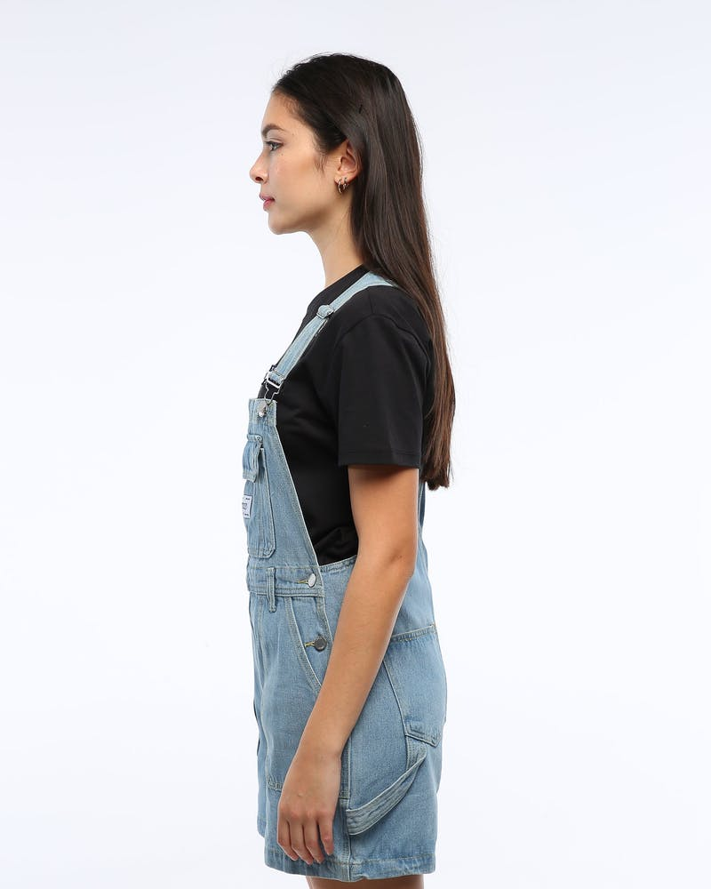 Stussy Women's Knox Overall Blue Denim