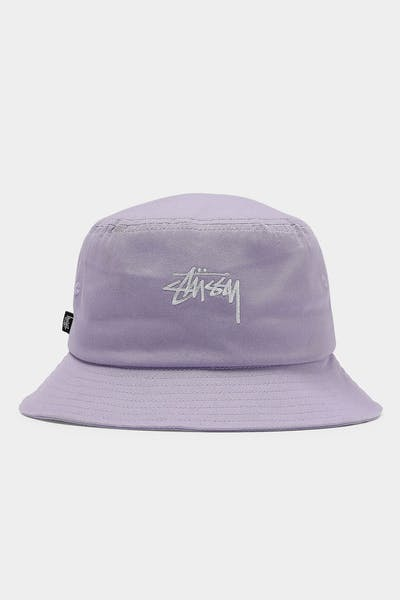 Stussy Stock Bucket Hat Lavender