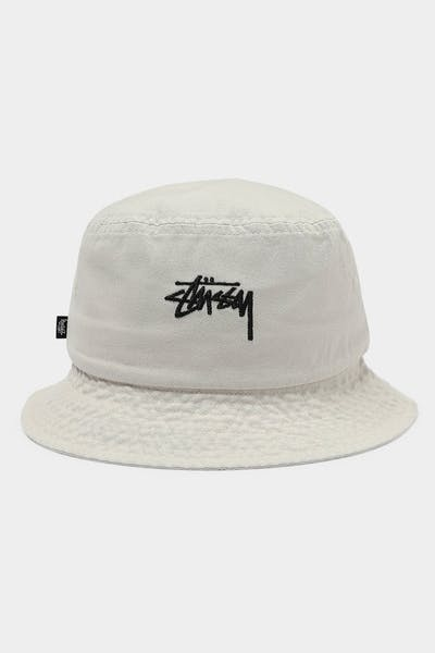 Stussy Stock Bucket Hat Off White