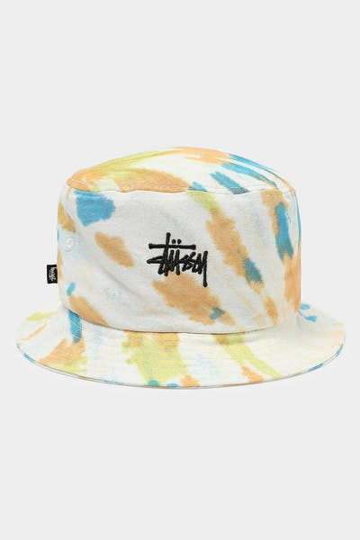 Stussy Graffiti Tie Dye Bucket Hat Orange