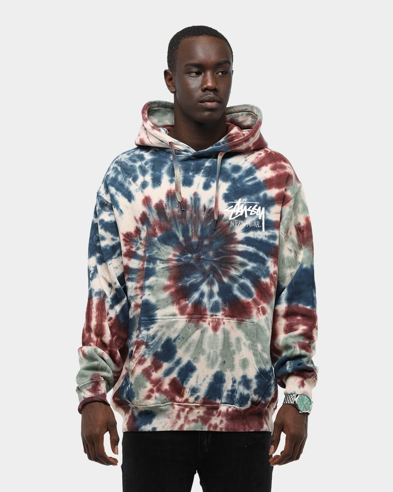 Stussy Men's Goldie Tie Dye Hood Multi-Coloured