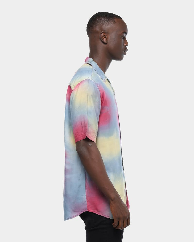 Stussy Tie Dye SS Shirt Multi-Coloured