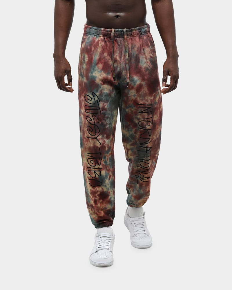 Stussy Men's Goldie Tie Dye Trackpant Camo
