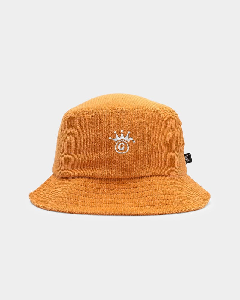 Stussy Graffiti Cord Bucket Hat Gold