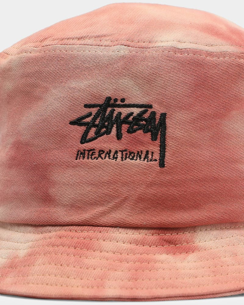 Stussy International Tie Dye Bucket Hat Rose