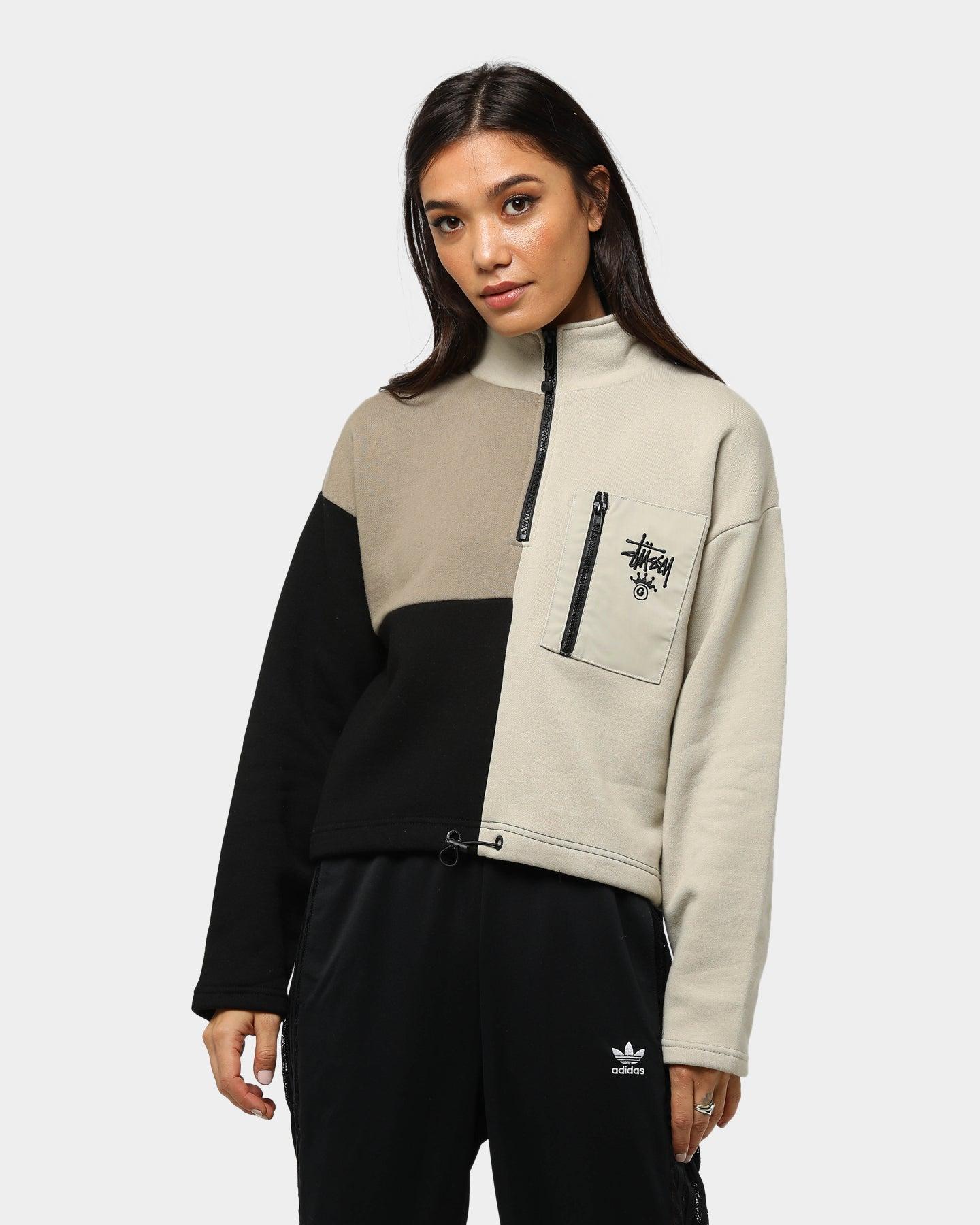 Stussy Women's Colourblock 14 Zip Fleece Cement