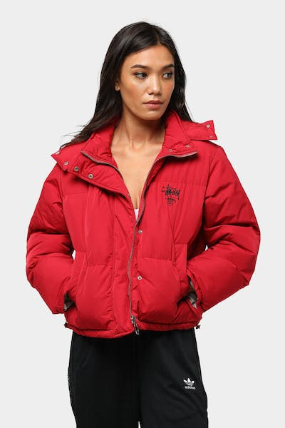 Stussy Women's Graffiti Puffa Jacket Chili Pepper