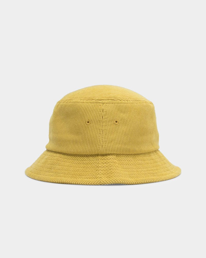 Stussy Men's Graffiti Cord Bucket Hat Mustard