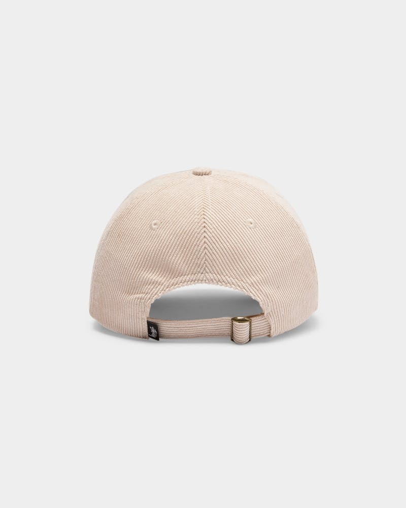 Stussy Men's Graffiti Cord Low Pro Cap White Sand