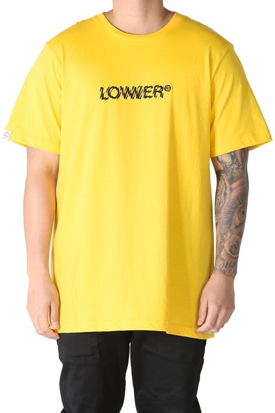 Lower QRS Pulse Embroidered Tee Yellow